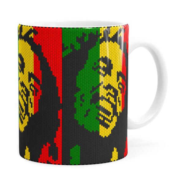 Caneca Bob Marley Mosaíco Branca