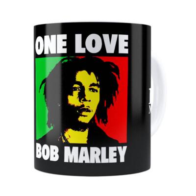 Caneca Bob Marley One Love Branca