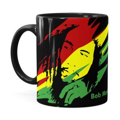 Caneca Bob Marley Se Deus Criou Preta