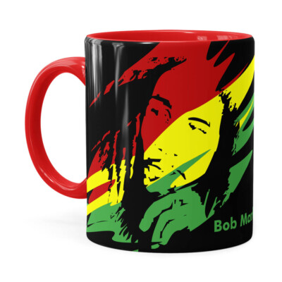 Caneca Bob Marley Se Deus Criou Vermelha