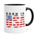 Caneca Born In The Usa Preta