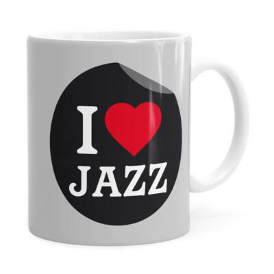 Caneca I Love Jazz V01 Branca