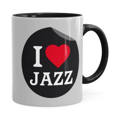 Caneca I Love Jazz V01 Preta
