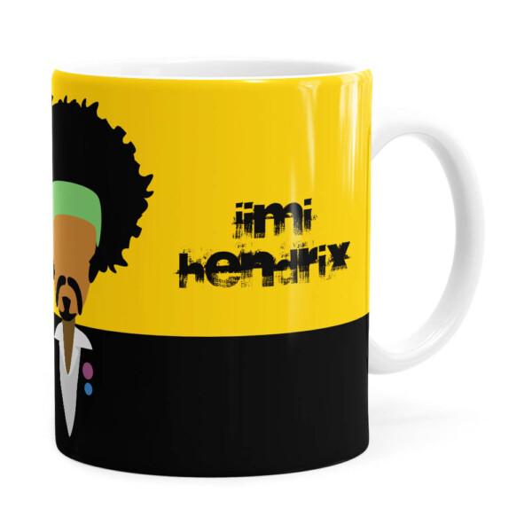Caneca Jimi Hendrix Minimalista Branca