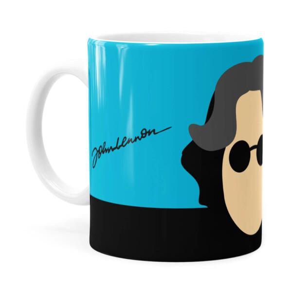 Caneca John Lennon Minimalista Branca
