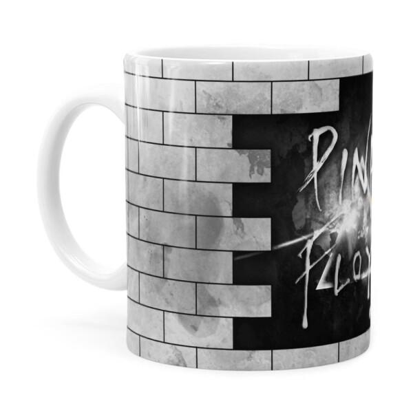 Caneca Pink Floyd The Dark Side E The Wall Branca