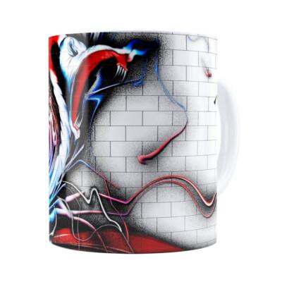 Caneca Pink Floyd The Wall Grafiti Branca