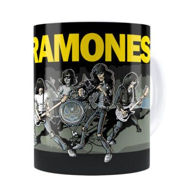 Caneca Ramones Cartoon Branca