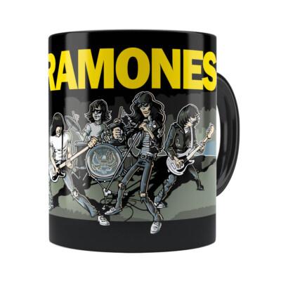 Caneca Ramones Cartoon Preta