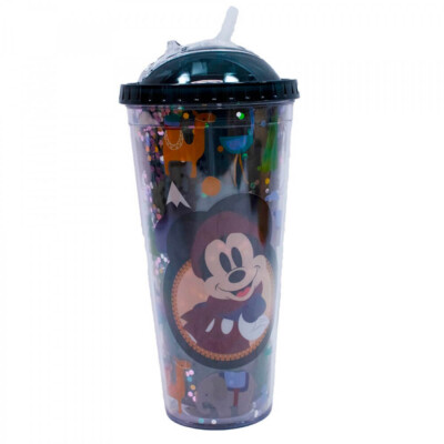 Copo Preto Mickey Cubos Gelo Artificial 600ml