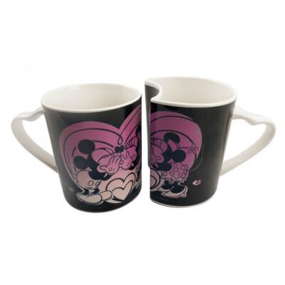Conjunto Canecas Amor Mickey e Minnie Porcelana