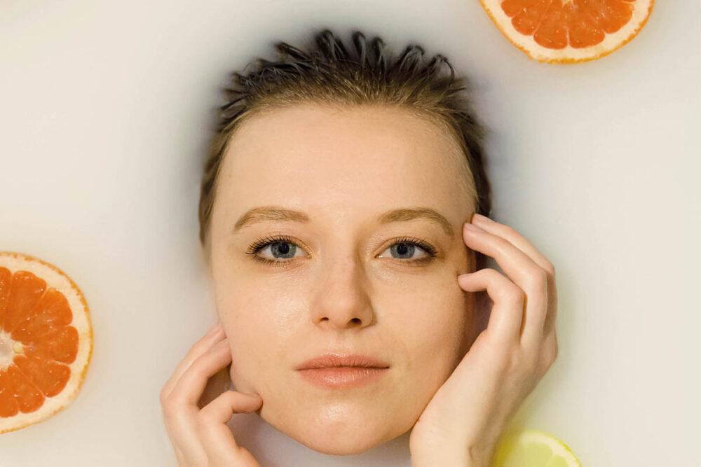 Máscara Para O Rosto Com Frutas