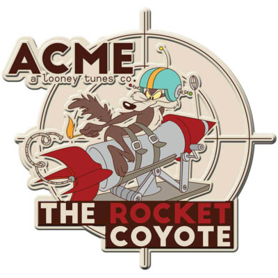 Placa Coyote Acme The Rocket Metal 35cm