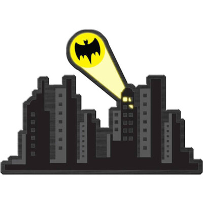 Placa Decorativa Batman Gotham City 40x30cm