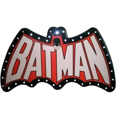 Placa Decorativa Batman Led 66x33cm