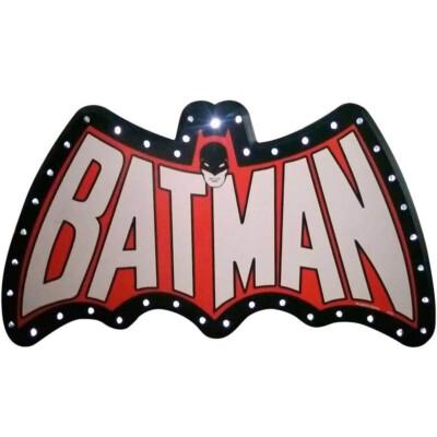 Placa Decorativa Batman Led 66x33cm