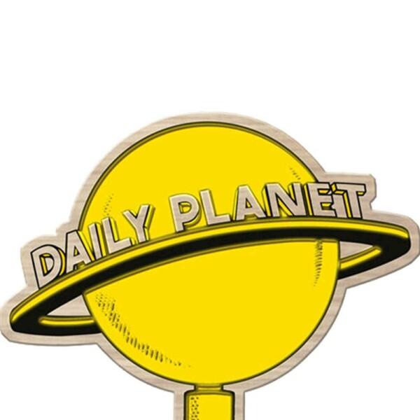Placa Decorativa Daily Planet Madeira 40x30cm