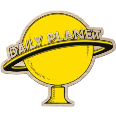 Placa Decorativa Daily Planet Madeira 40x30cm