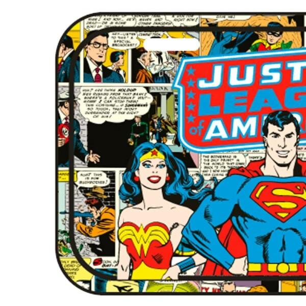 Placa Decorativa Liga Da Justiça Hq Metal 30x15cm
