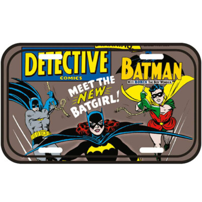 Placa Decorativa Meet The Batgirl 30x15cm