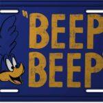 Placa Decorativa Papa-léguas Beep Beep 30x15cm