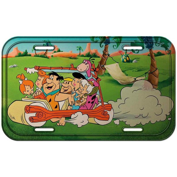 Placa Flintstones The Family Riding 30x15cm
