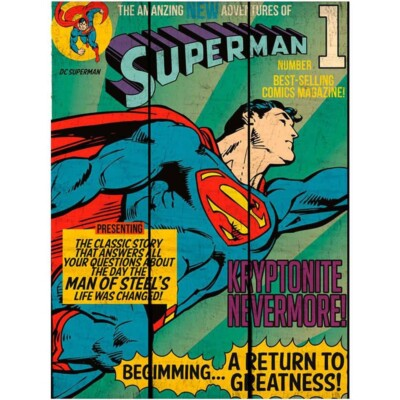 Placa Superman Flying Madeira 50×36cm
