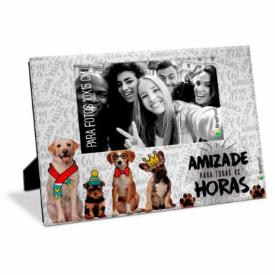 Porta Retrato Amizade Cachorrinhos 10×15