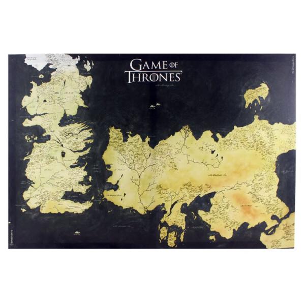 Quadro Game Of Thrones Mapa De Westeros E Essos