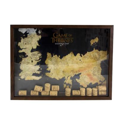 Quadro Rolha Game Of Thrones Em Madeira 33x33cm