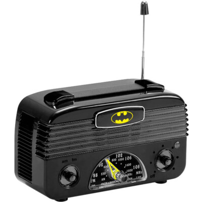 Rádio Am Fm Batman Logo Preto