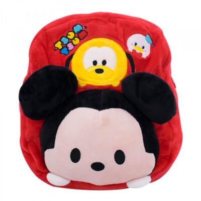 Mochila Mickey Pelúcia Infantil Tsumtsum