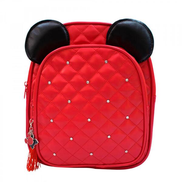 Mochila Mickey Vermelha Orelhas