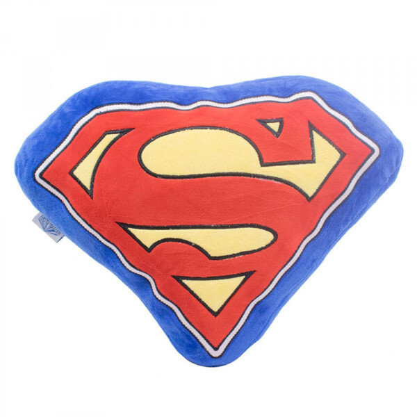 Almofada Super Homem Formato Símbolo Fibra
