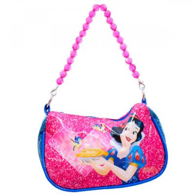 Bolsa Azul Princesa Branca De Neve Com Alça De Miçanga