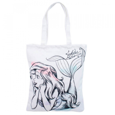 Bolsa Branca Sereia Ariel 40x34cm