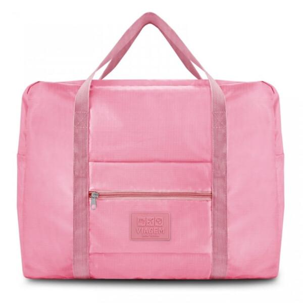 Bolsa De Viagem Dobrável Gg Jacki Design Rosa