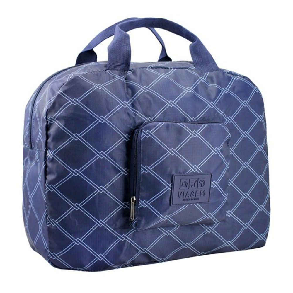 Bolsa Viagem Dobrável Jacki Design Azul