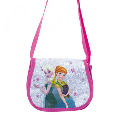 Bolsa Rosa Infantil Anna E Elsa Frozen