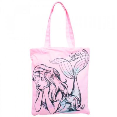 Bolsa Rosa Sereia Ariel 40x34cm