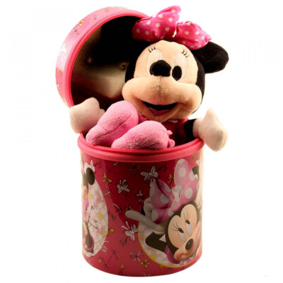 Boneca Minnie Chaveiro Rosa 23cm Na Lata