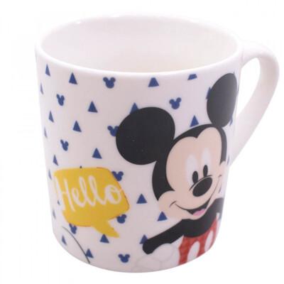 Caneca De Porcelana Mickey Hello 250ml