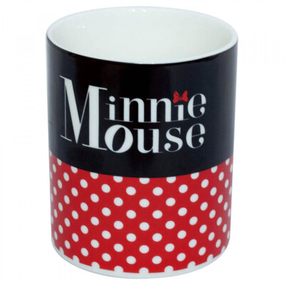 Caneca Minnie Mouse De Porcelana 370ml