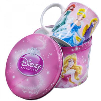 Caneca De Porcelana Na Lata 350ml Princesas