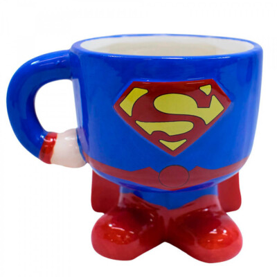 Caneca Superman 3d Porcelana 450ml
