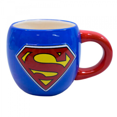 Caneca Superman De Porcelana Oval 600ml