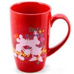 Caneca Mickey E Minnie Porcelana Vermelha 400ml
