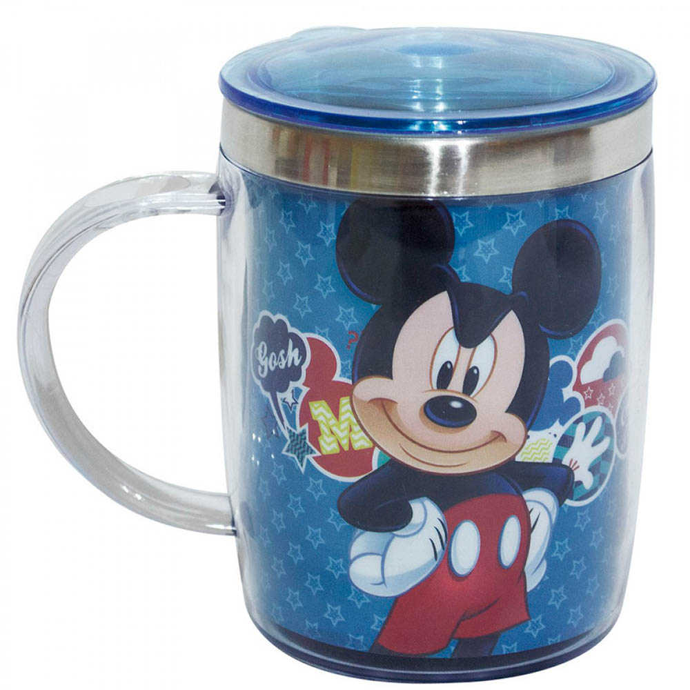 Caneca Mickey Térmica Azul 450ml