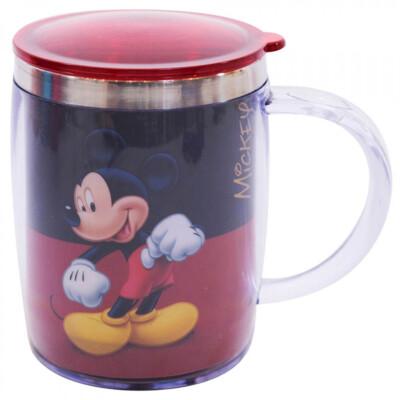 Caneca Mickey Termica Preta E Vermelha 450ml