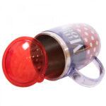 Caneca Minnie Termica Preta E Vermelha 450ml